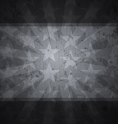 Retro stars black background with grunge effect vector