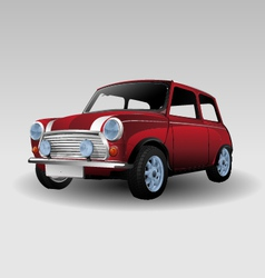 Mini red car vector