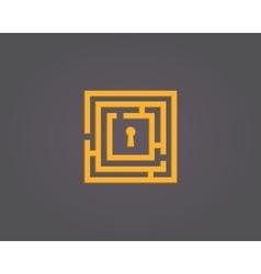 Colorful abstract maze logo vector