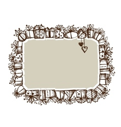 Gift boxes frame for your design vector