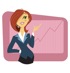 Sexy young woman in a business suit vector