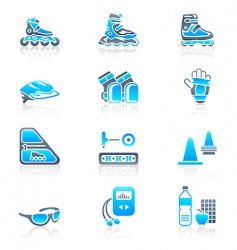 Skating icons vector