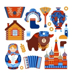 Russia travel set vector