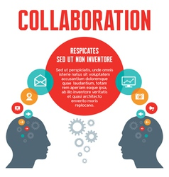 Collaboration - with human heads vector