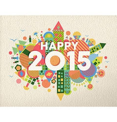 Happy 2015 quote vector