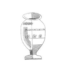 Jug hand-drawn style grunge vector