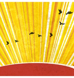 Retro sunrays background vector