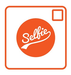 Selfie text camera icon isolated vector