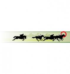 Horse racing banner vector