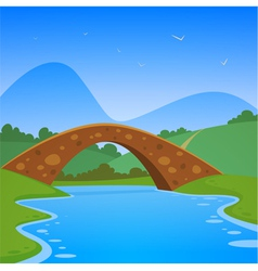 Landscape with bridge vector
