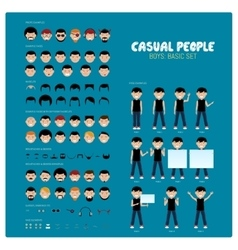 Casual people part 1 vector
