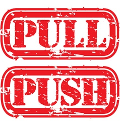 Push pull stamp vector