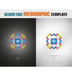 Modern geometric design template vector