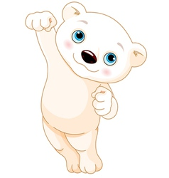 Polar bear jumping vector