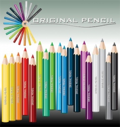 Pencils crayon vector