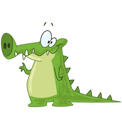 Crocodile waving vector