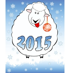 New year lamb vector