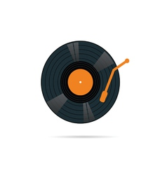 Vinyl record icon in color vector