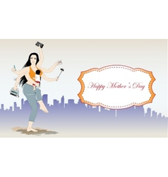 Happy mothers day banner vector