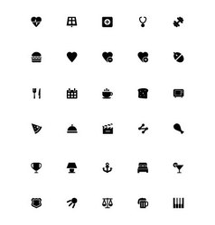 Mini icons 13 vector