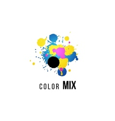 Cmyk logo template vector