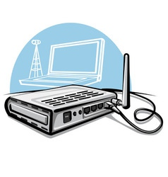 Wireless router vector