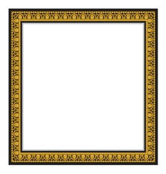 Gold antique frame isolated on white background vector