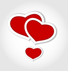 Hearts from paper valentines day card vector