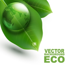 Environmental element with transparent green ball vector