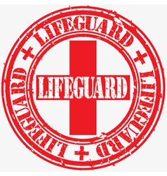Lifeguard stamp vector