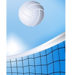 Flying volleyball vector