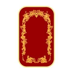 Bussines card ornaments vintage vector