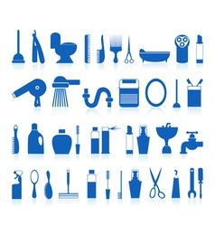 Restroom bathroom icons vector