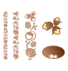 Hazelnut ornament vector