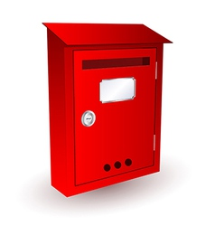 Red mailbox vector