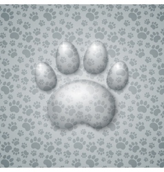 Trace cat in the form of droplets water vector