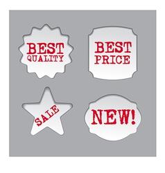 Promotion sale labels vector
