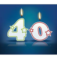 Birthday candle number 40 vector