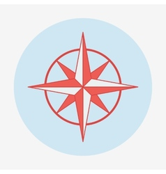 Pirate or sea icon wind rose flat design vector