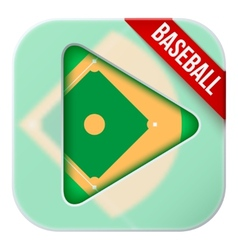 Application icon for live sports broadcasts or vector