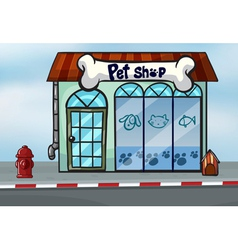 A pet shop vector