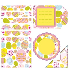 Easter set of design elements vector