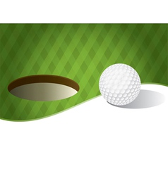Golf ball with copyspace vector