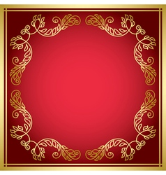 Red card with golden frame vector