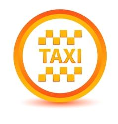 Orange taxi icon vector