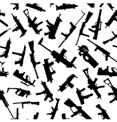 Weapons silhouettes vector