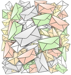 Dynamic mail cartoon background vector