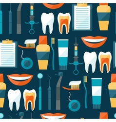 Medical seamless pattern with dental equipment vector