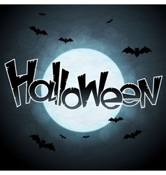 Eps 10 halloween background with moon and bats vector