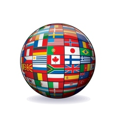 World flags globe image vector